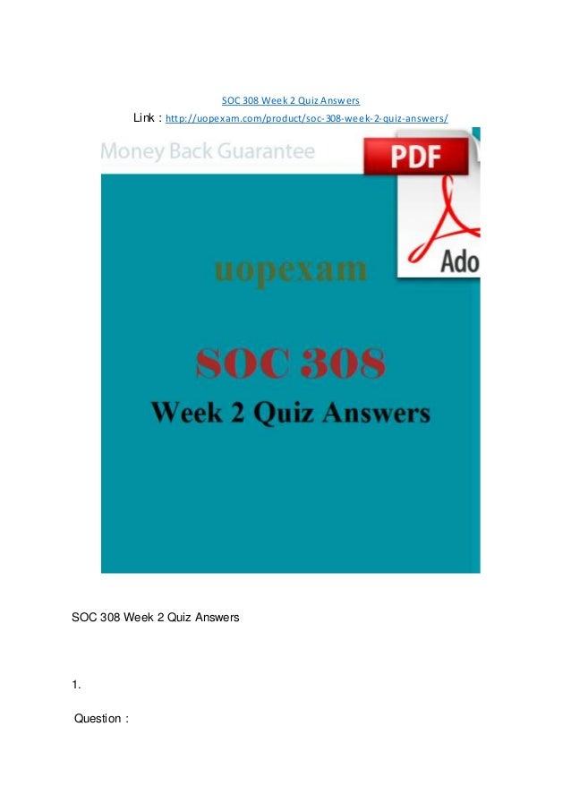 soc 320 week 1 quiz