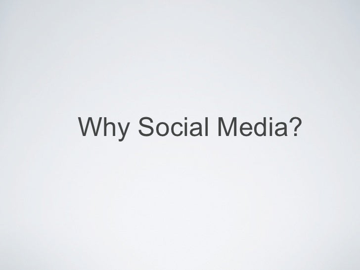 Social Media discussion presentation