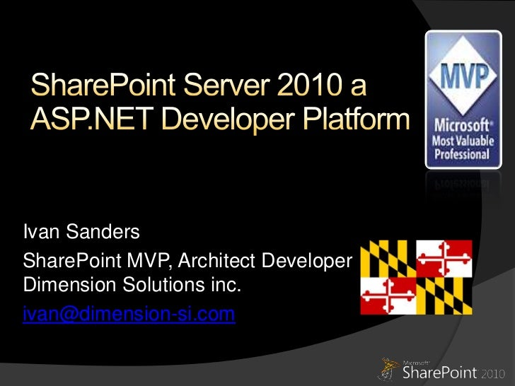 SoCalCodeCamp SharePoint Server 2010 a Developer Platform