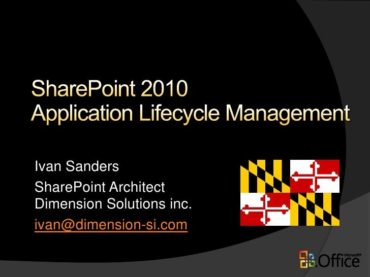 SharePoint 2010 Application Lifecycle Management