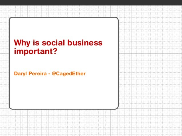 © 2012 IBM Corporation 1 Why is social business important? Daryl Pereira - @CagedEther