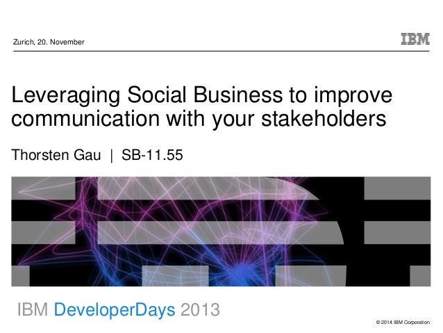 Soc biz to improve stakeholder comms (devdays13)