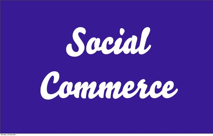 Social Commerce Introduction