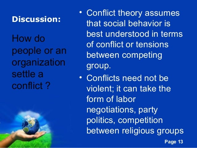 conflict theory education Theories of education historically, american education served both political and economic needs, which dictated the function of education the conflict theory.