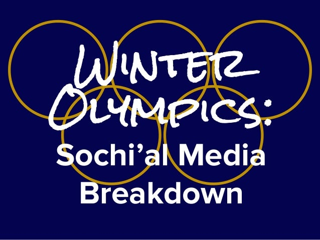 Winter Olympics: Sochi'al Media Breakdown