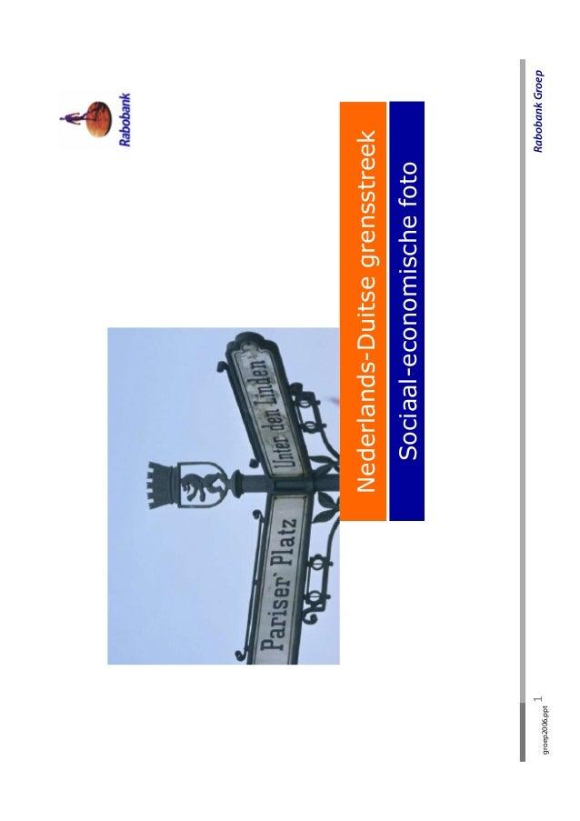 Nederlands-Duitse grensstreek                      Sociaal-economische fotogroep2006.ppt                1                 ...