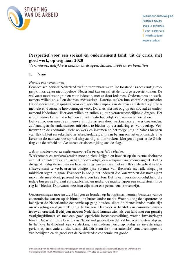 Sociaal akkoord april 2013