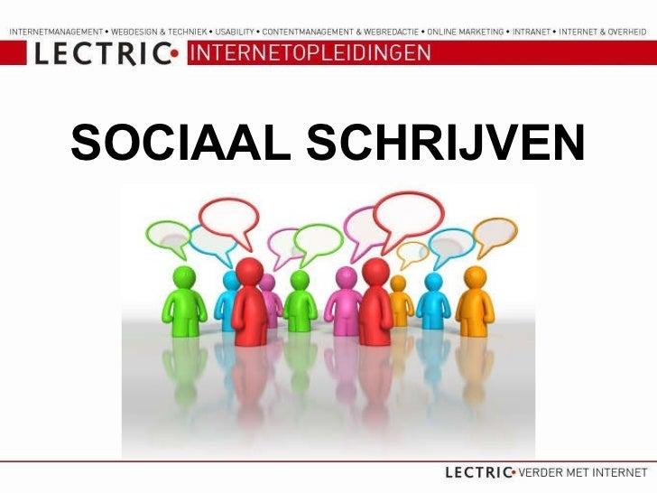 SOCIAAL SCHRIJVEN
