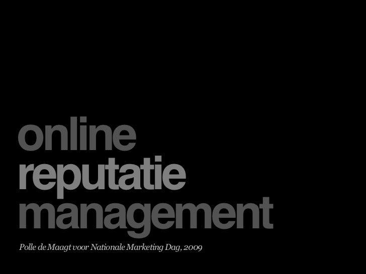 ORM   Nationale Marketing Dag