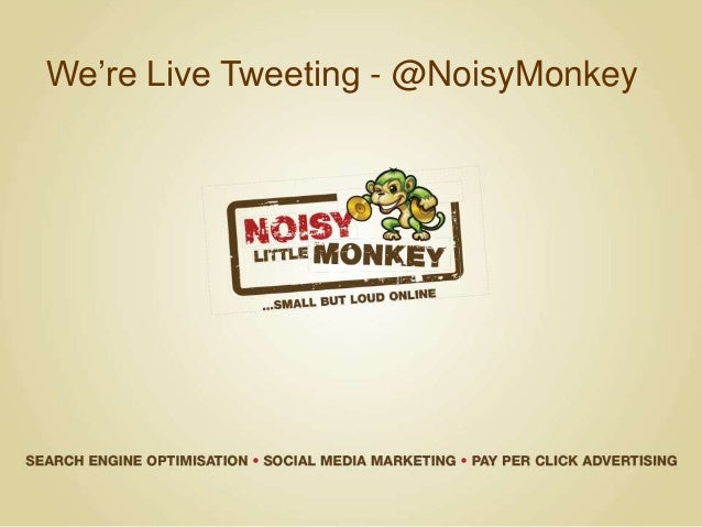 We're Live Tweeting - @NoisyMonkey