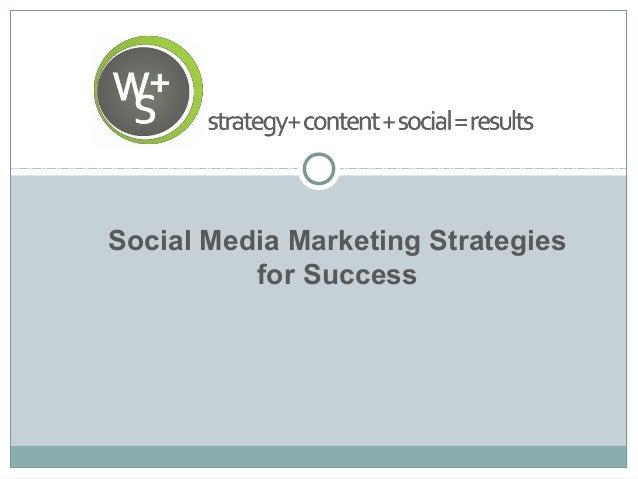 Social media marketing strategies for success