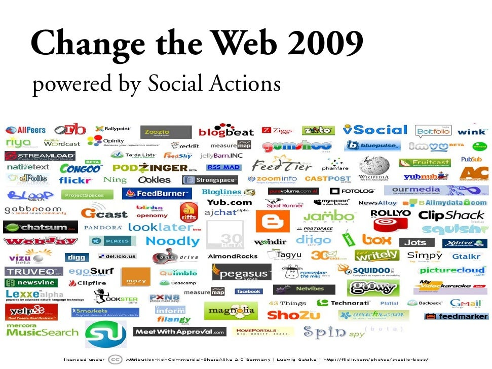 Change the Web 2009 powered by Social Actions
