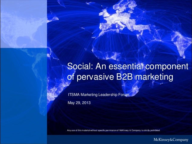 Social: An essential component of pervasive B2B marketing