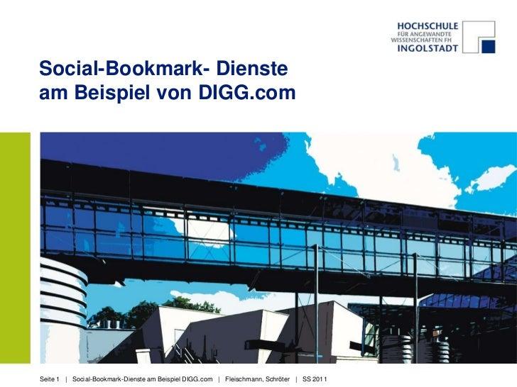 Social-Bookmark- Dienste am Beispiel von DIGG.com<br />