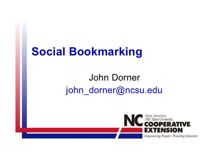 Social Bookmarking John Dorner [email_address]
