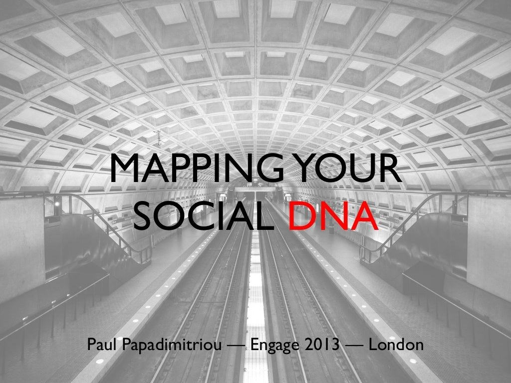 Mapping Your Social DNA - SocialBakers Engage 2013, London