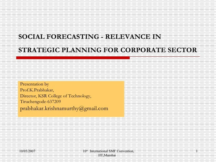 Social Forecasting   Relevance In corporate sector
