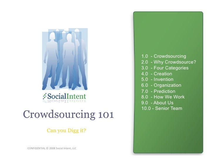 Crowdsourcing 101 - tapping into the wisdom of crowds