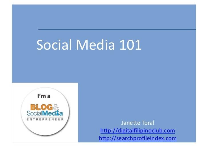 Social Media and Digital Influence 101