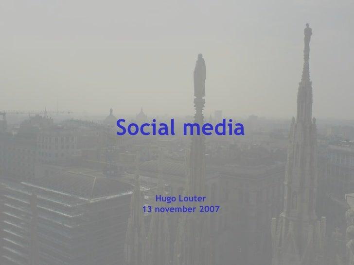 Social Media november 2007