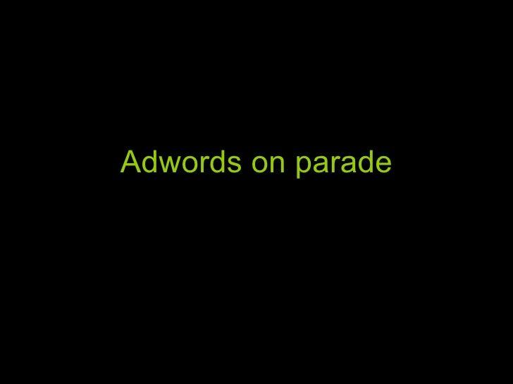 Social Media   Adwords