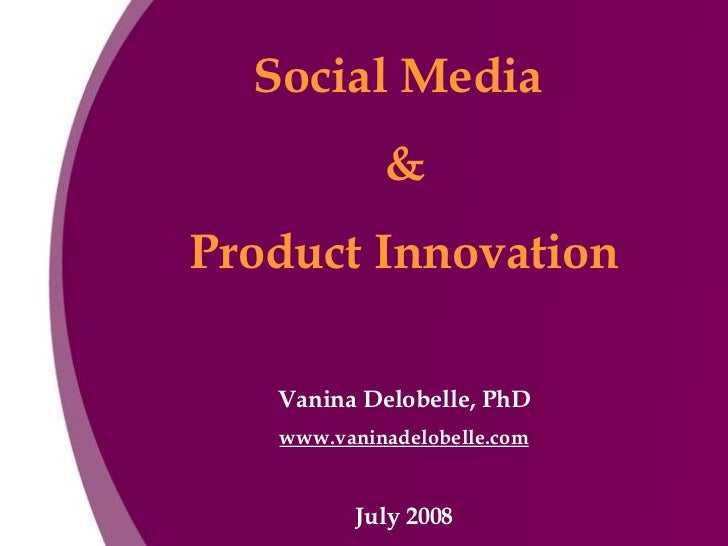 Social Media And Product Innovation