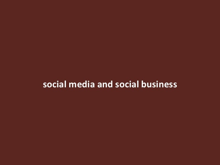 social media and social business