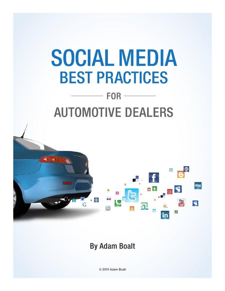 Social Media Best Practices For Automotive Dealers