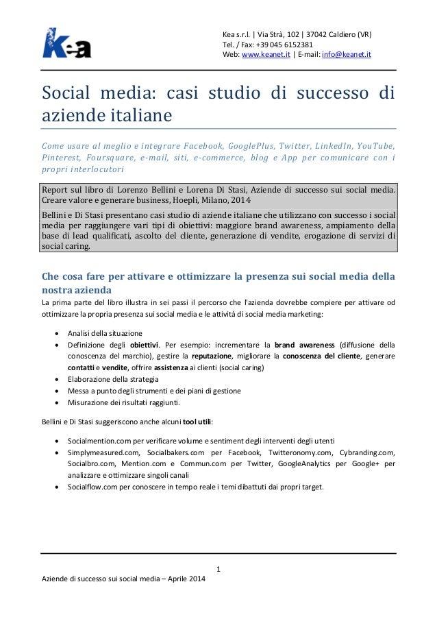 Social media - Casi studio di successo di aziende italiane