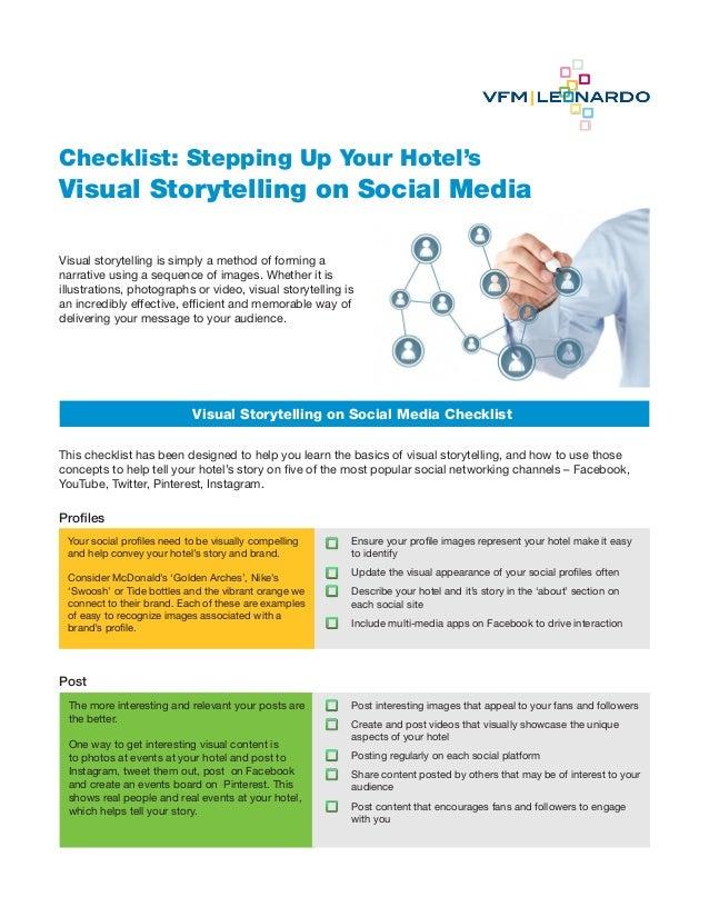 Content Marketing, Social Media Checklist for Storytelling