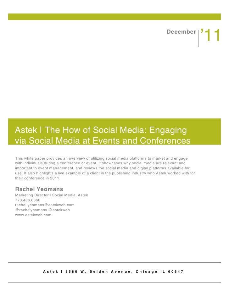 Social Media Conference Management