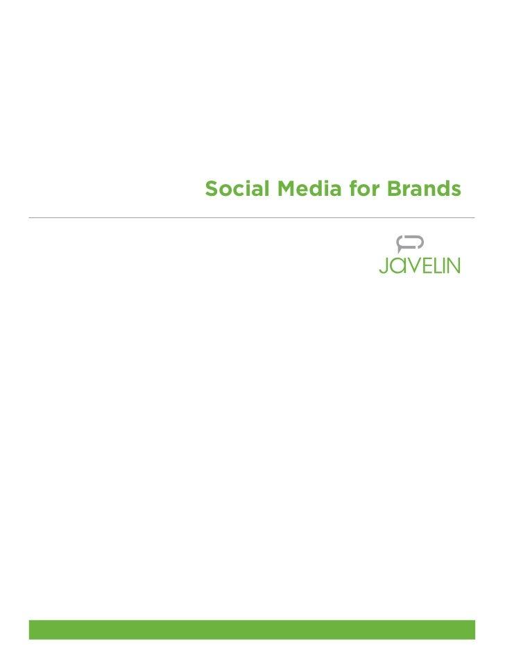 Social media for brands