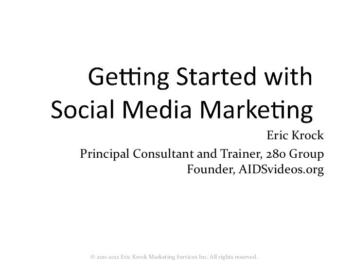 Getting Started with Social Media Marketing