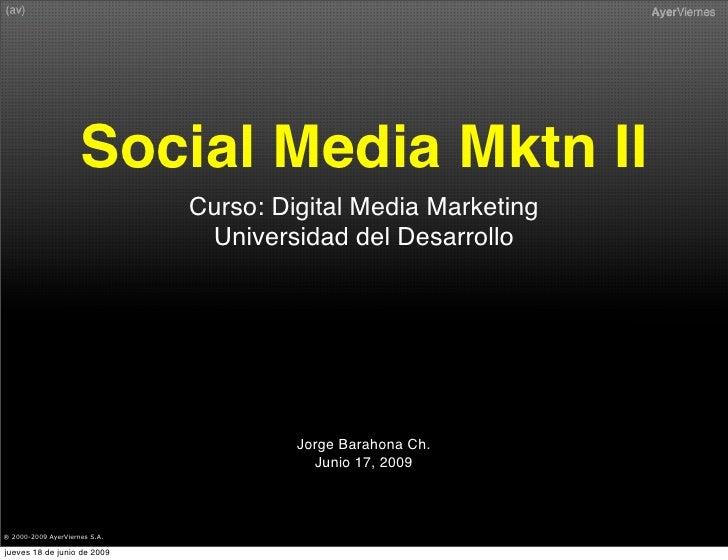 Social Media Marketing Ii