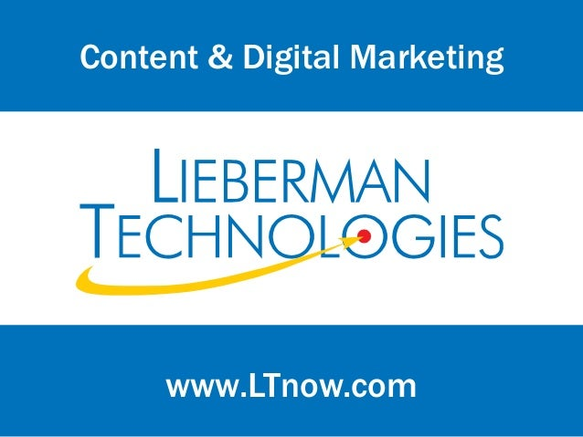 www.LTnow.comContent & Digital Marketing