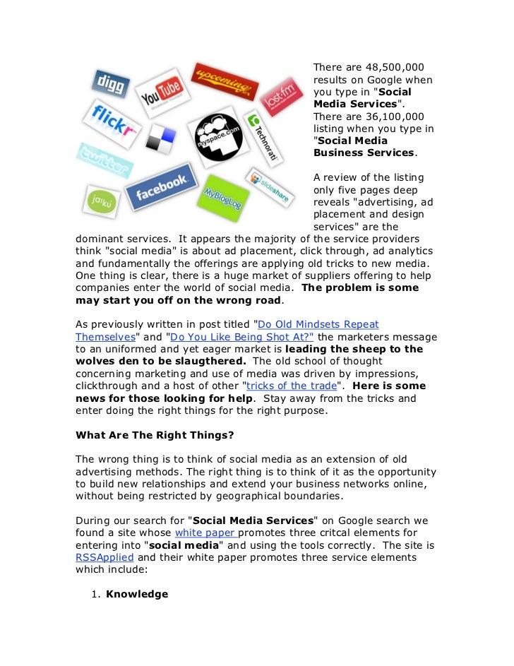 Social Media Marketing White Paper