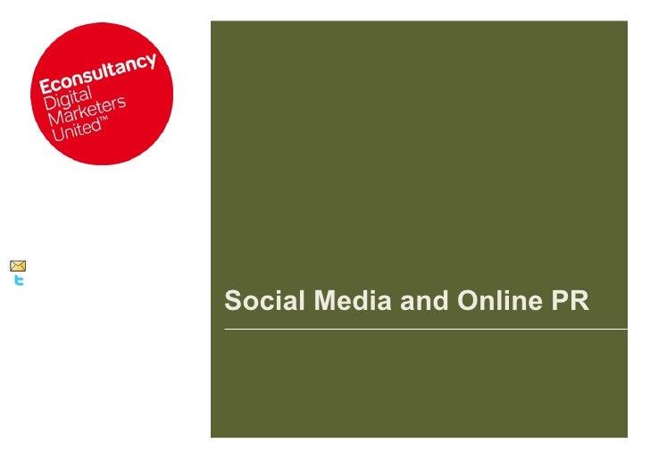 Social Media and Online PR