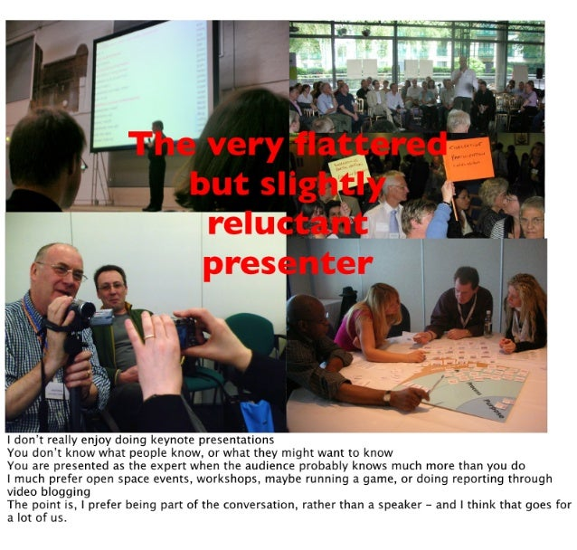 R  .  'but slig.   ml tit   I don't really enjoy doing keynote presentations You don't know what people know,  or what the...
