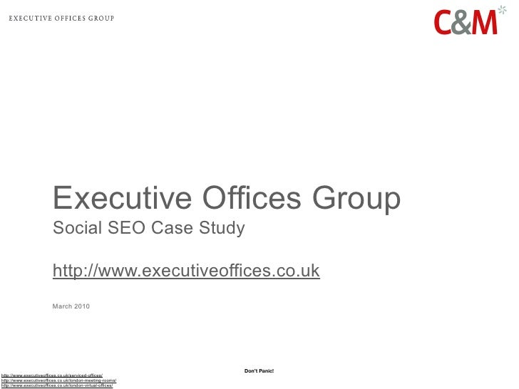 Executive Offices Group:  A Social Media Optimisation & Social SEO Case Study