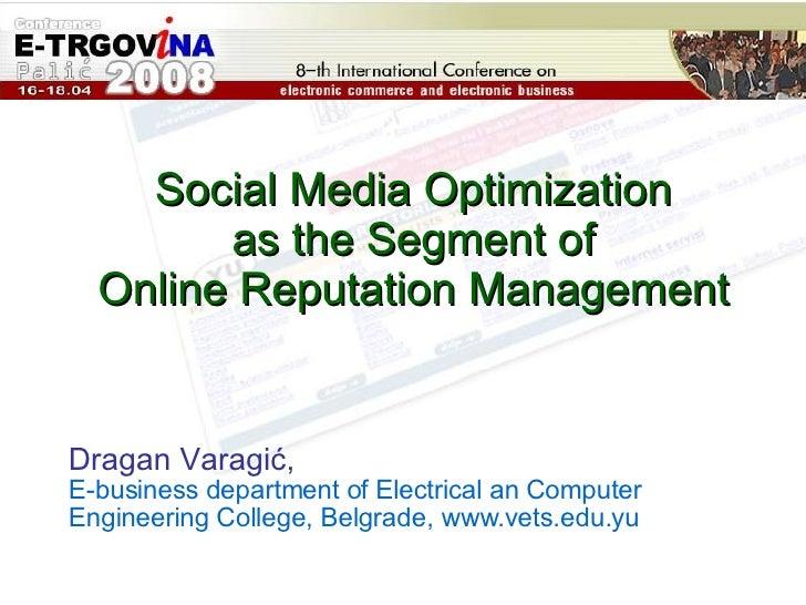 Social Media Optimization Matrix   Dragan Varagic
