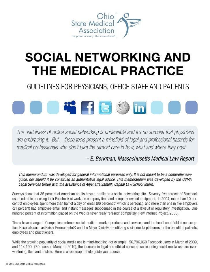 Healthcare Social Media Policy