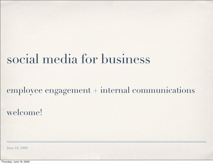 Final version: Social Media for Business Intro