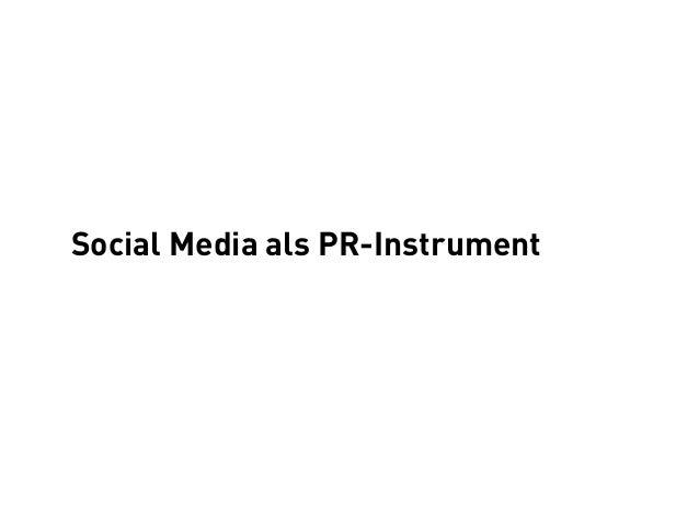 Social Media als PR-Instrument