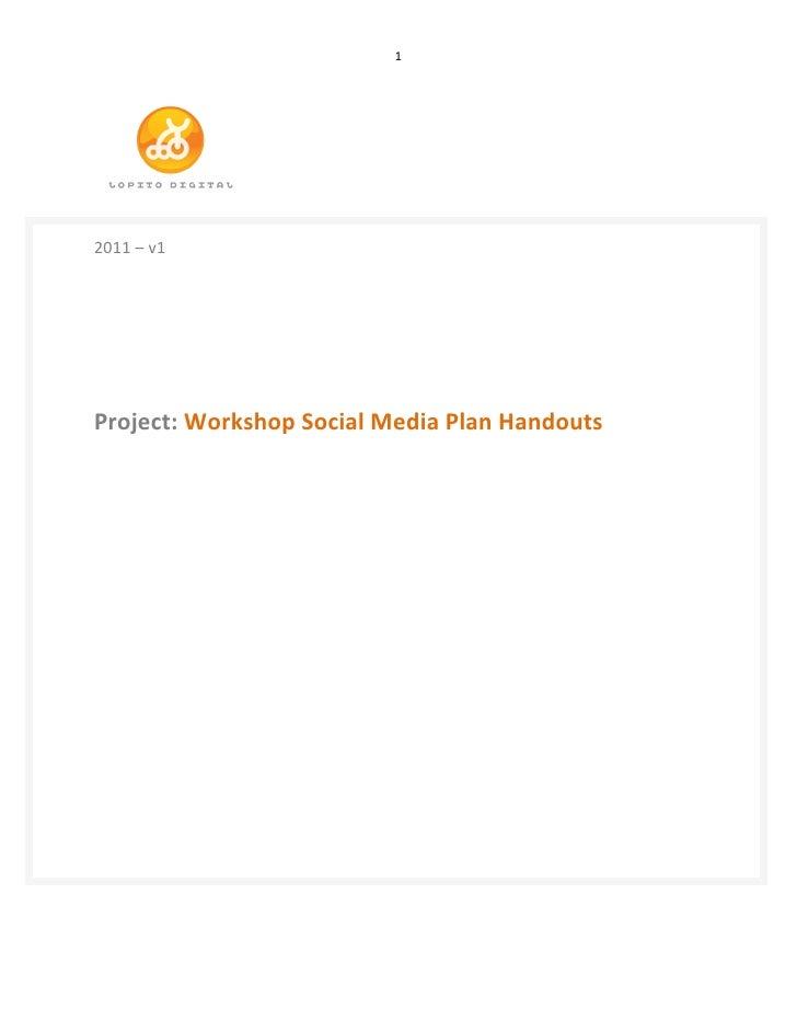 1                          2011 – v1      Project: Workshop ...