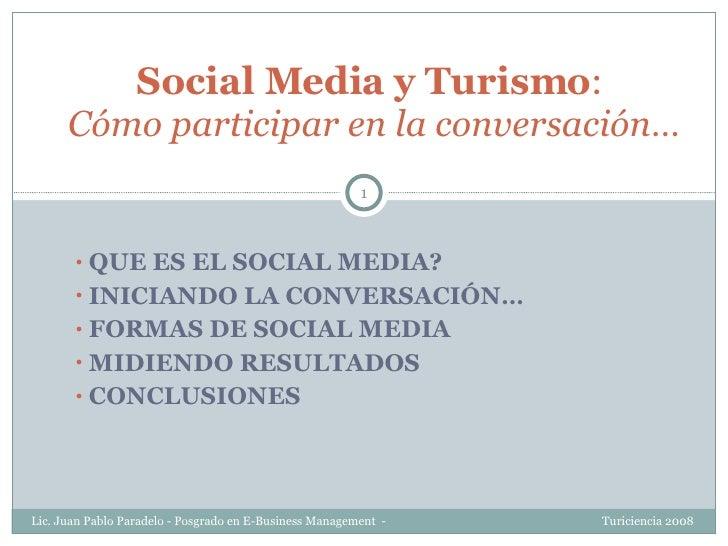 <ul><li>QUE ES EL SOCIAL MEDIA? </li></ul><ul><li>INICIANDO LA CONVERSACIÓN… </li></ul><ul><li>FORMAS DE SOCIAL MEDIA </li...