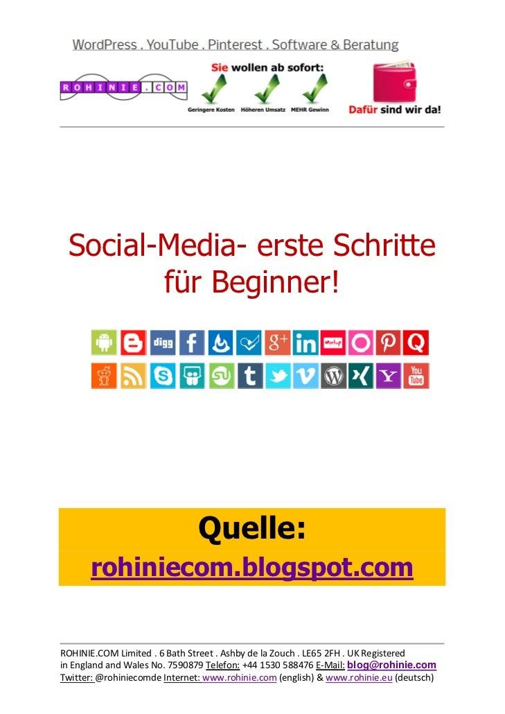 Social-Media - erste Schritte für Beginner