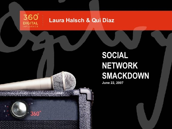 SOCIAL NETWORK SMACKDOWN June 22, 2007 Laura Halsch & Qui Diaz