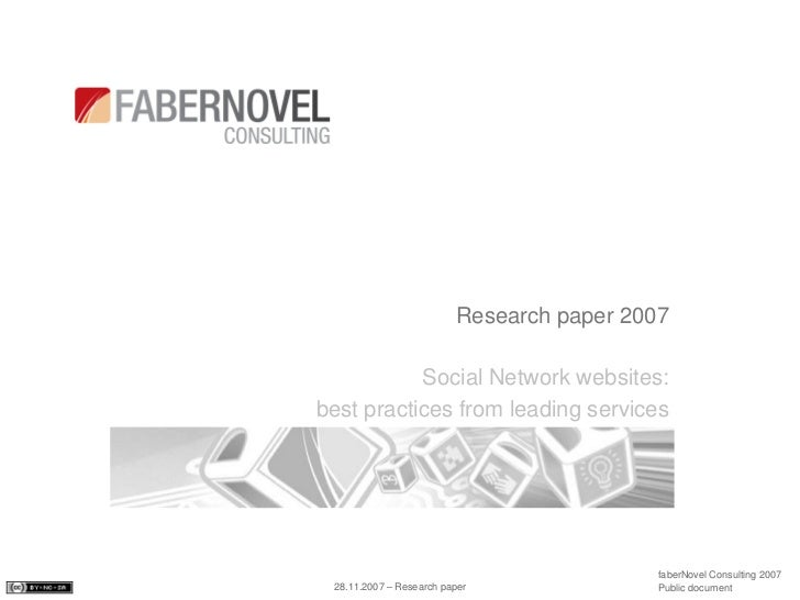 social networking research paper