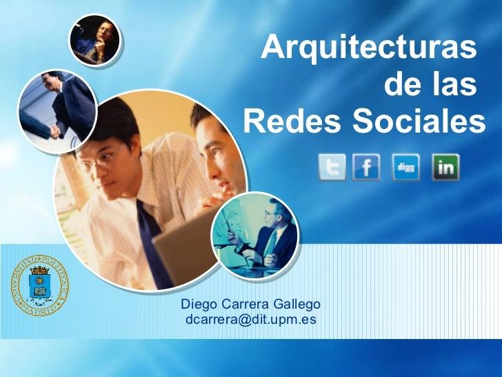 Arquitecturas  de las  Redes Sociales Diego Carrera Gallego [email_address]