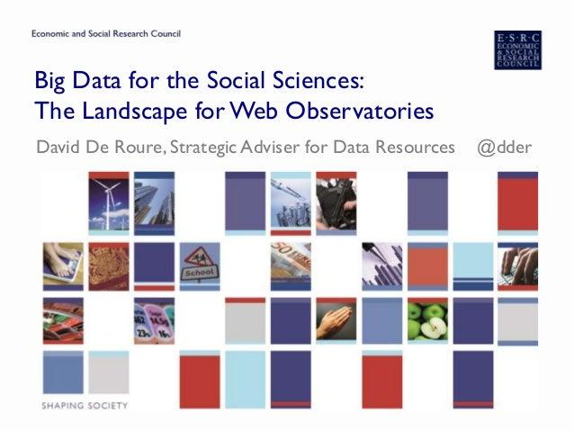 Social Science Landscape for Web Observatories